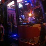 El autobús que me llevaría a Teherán (Irán)