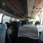 Ya en el autobús, en ruta a Samarkanda (Uzbekistán)