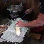 Preparando la barra de pan