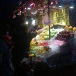 Frutas en un puesto callejero