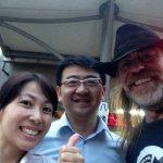 Con Sally e Iván recién llegado a Keelung