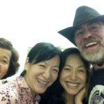 La abuela con Grace, Liza y yo